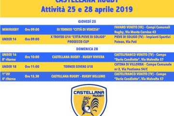 Programma 25 e 28 aprile 2019
