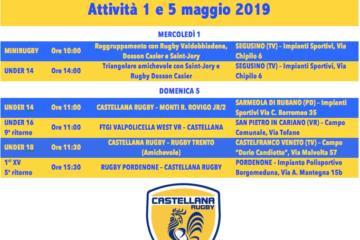 Programma 1 e 5 maggio 2019