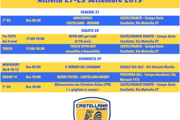 Programma 27-29 settembre 2019
