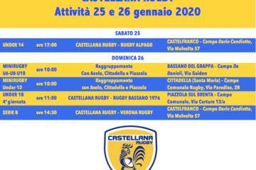 Programma del 25 e 26 gennaio 2020