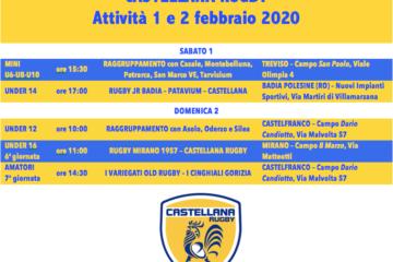 Programma dell'1 e 2 febbraio 2020