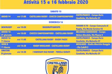 Programma del 15 e 16 febbraio 2020